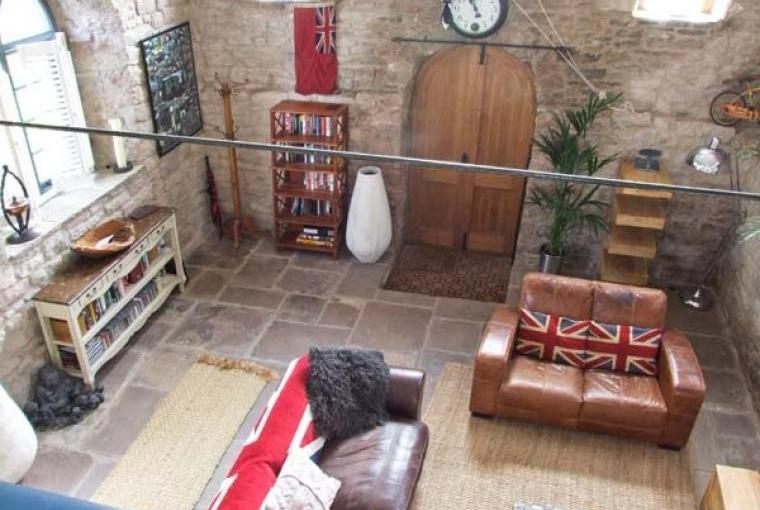 Lounge area,Old Wye Valley Chapel, Monmouthshire, Wales