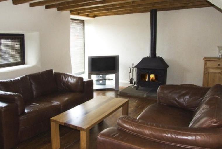 Lounge with warming woodburner