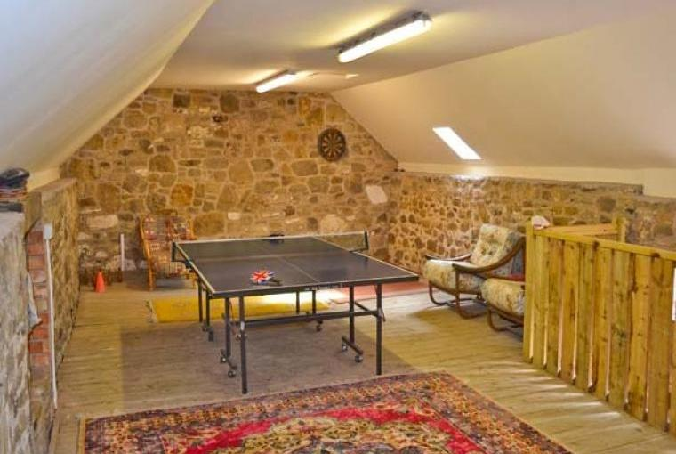Shared games rooms with table tennis