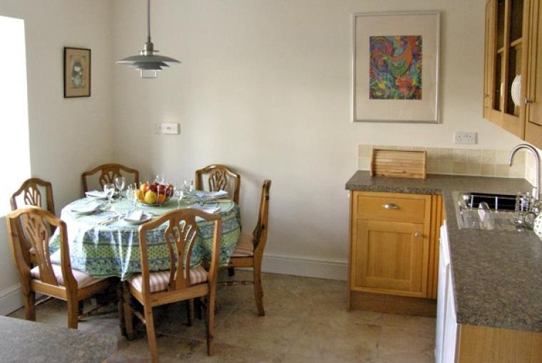Kitchen with dining area,  Bryn Howell Holiday Barn, Wrexham, Wales