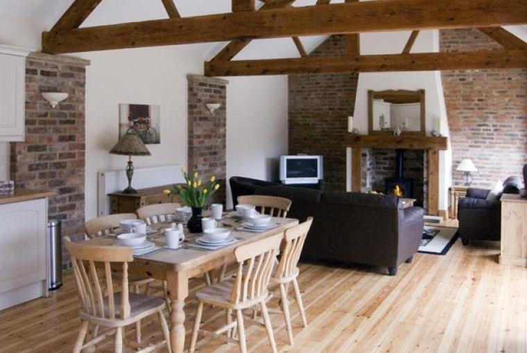 Open plan living area Wheelhouse Barn, Yorkshire