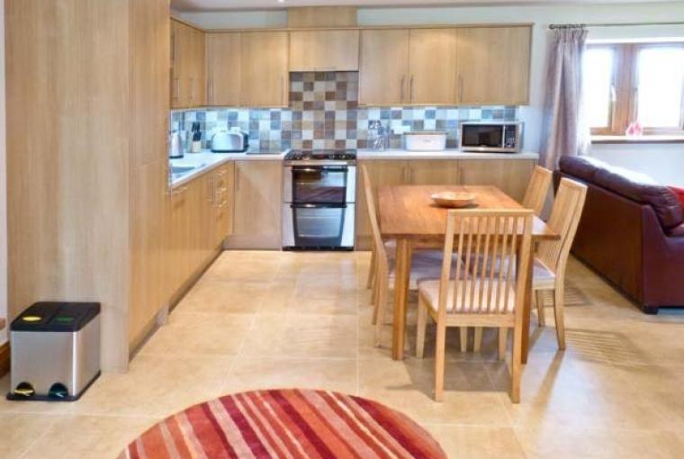 Roomy kitchen/dining area