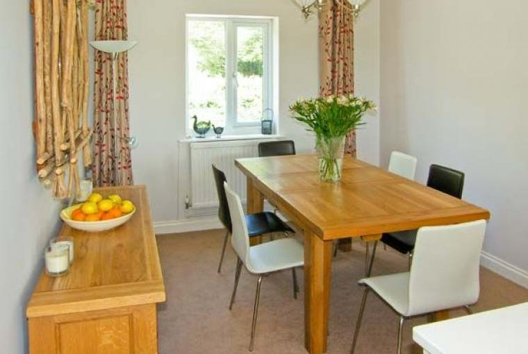 Dining area at this Aberdovey Cottage