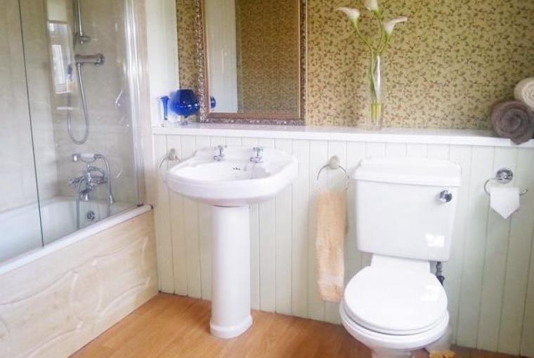 Bathroom, Farmhouse near Capel Iwan