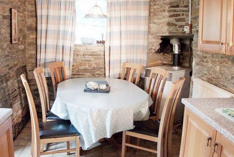 Dining area, Farmhouse near Capel Iwan