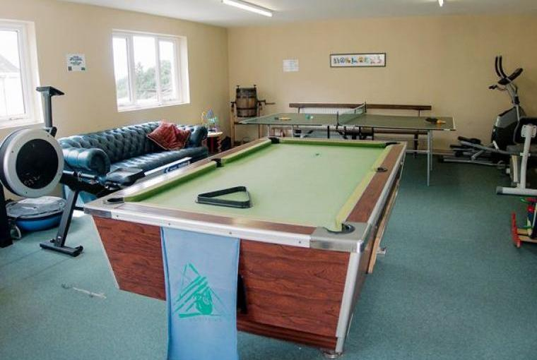 Shared on-site games room