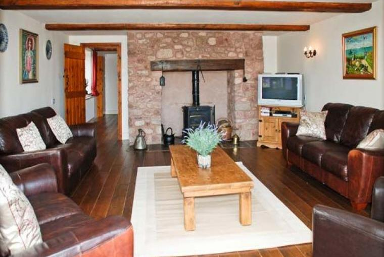 Lounge at Linhay Barn Conversion