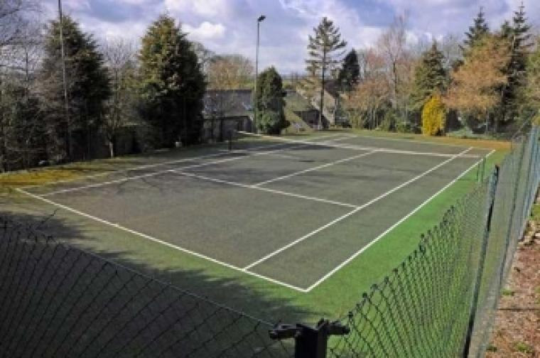 Tennis Court in the Grounds of Vicarage Farm