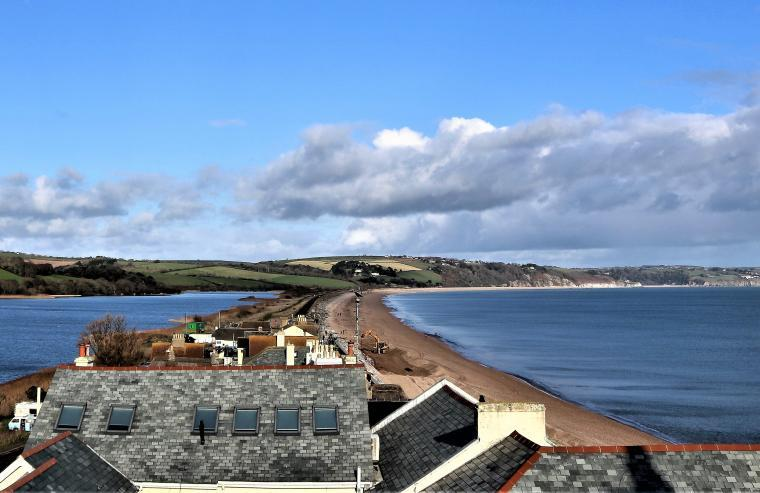 Torcross beach and Slapton Ley, South Devon