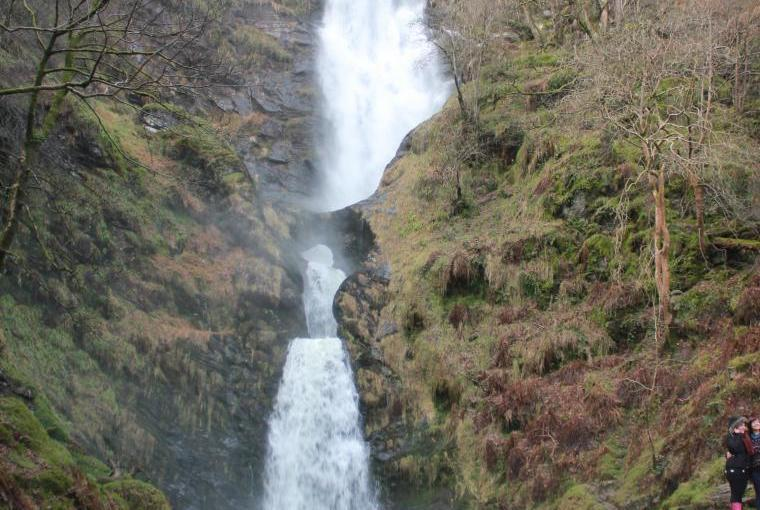 Waterfall one of the 10 wonders of Wales