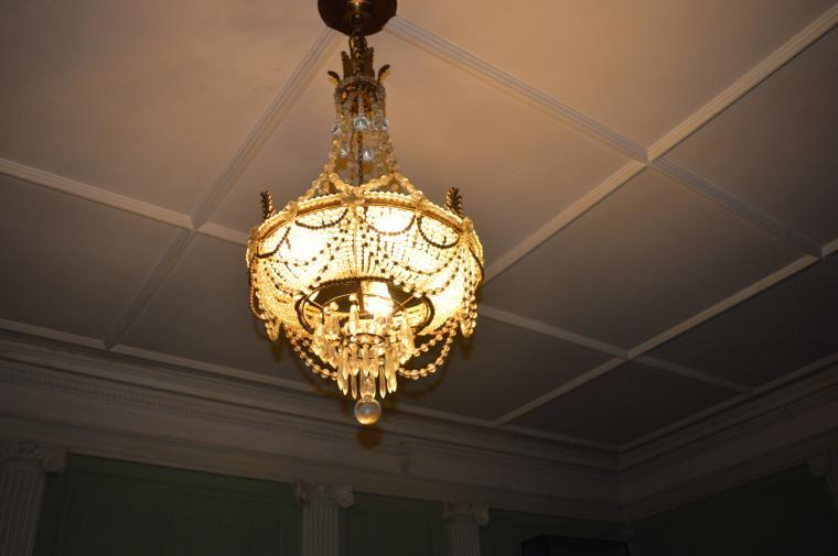 Chandelier in drawing room