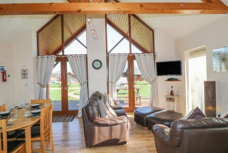 Open plan living area, Belfry Dogs-Welcome Lodge, Lincolnshire