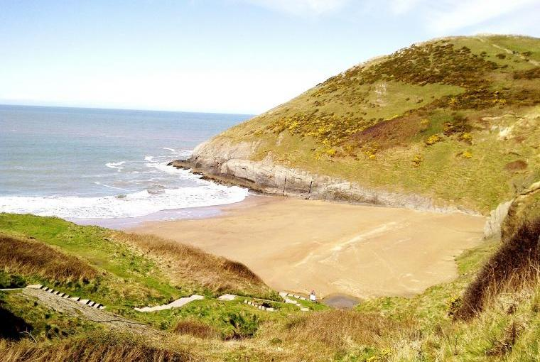 Mwnt Beach is one of many gorgeous sandy beaches
