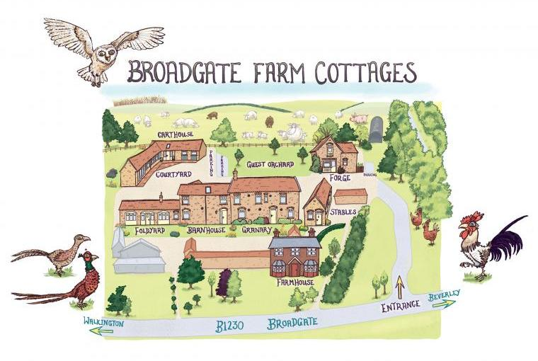 map of the cottages