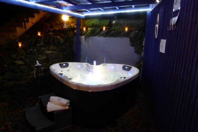 The ultimate luxury hot tub under permanent cover for use all year round