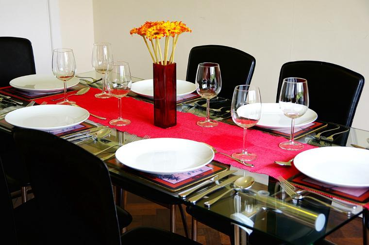 Enjoy meals in the dining room