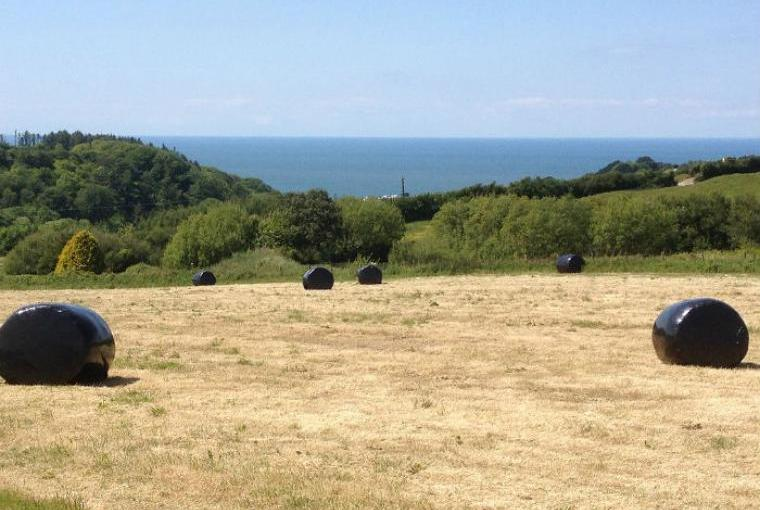 Beautiful sea views from the Lower Campscott Farm