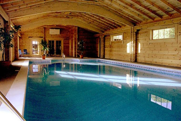 Indoor heated swimming pool with sauna