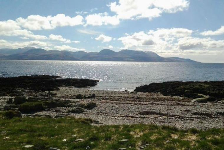 Summer view from Skipness Shore out to Arran