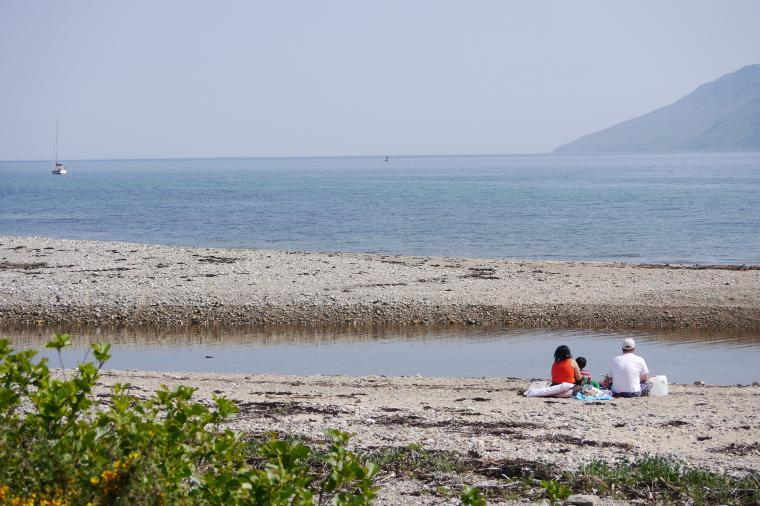 Summer view from Skipness Village shore
