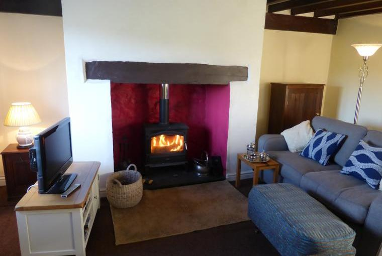 comfortable lounge with multi fuel stove