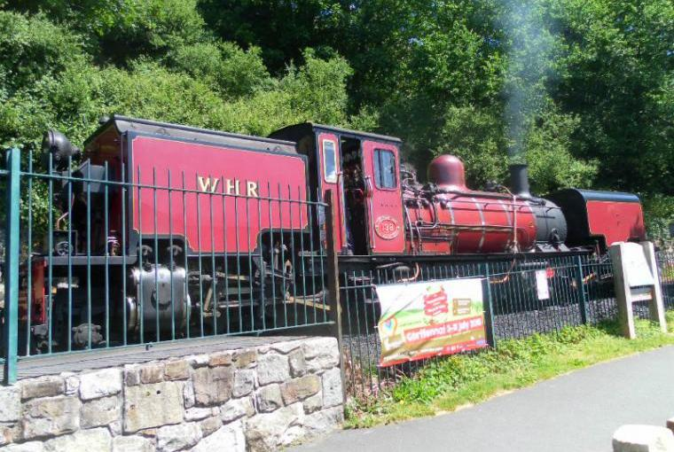 Steam train on Welsh Highland Railway
