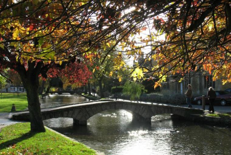 Bourton on the Water in Autumn
