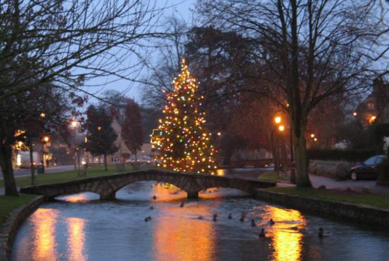 Bourton on the Water in Winter time