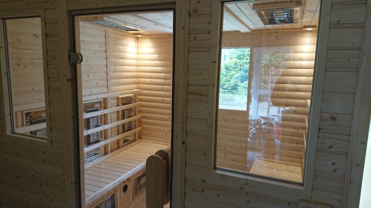 holiday cottage with Infra-red Sauna wales
