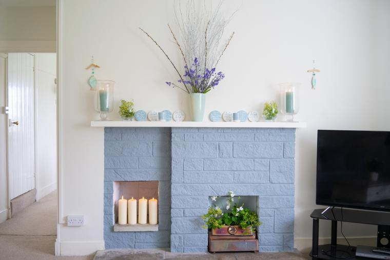 Stylish interior at Braunton Farmhouse