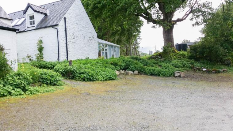 This is a view looking from the car park area up to the Steading