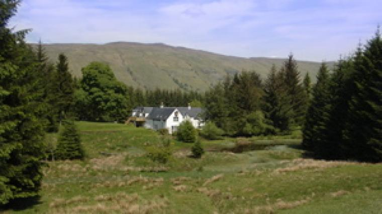 View of Wildgrass and The Steading from our field the other side of the lochan