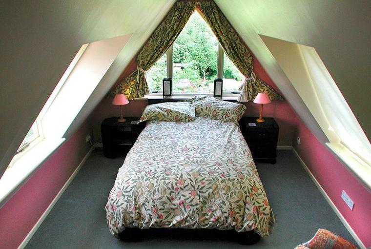 Third bedroom on top floor with full double bed