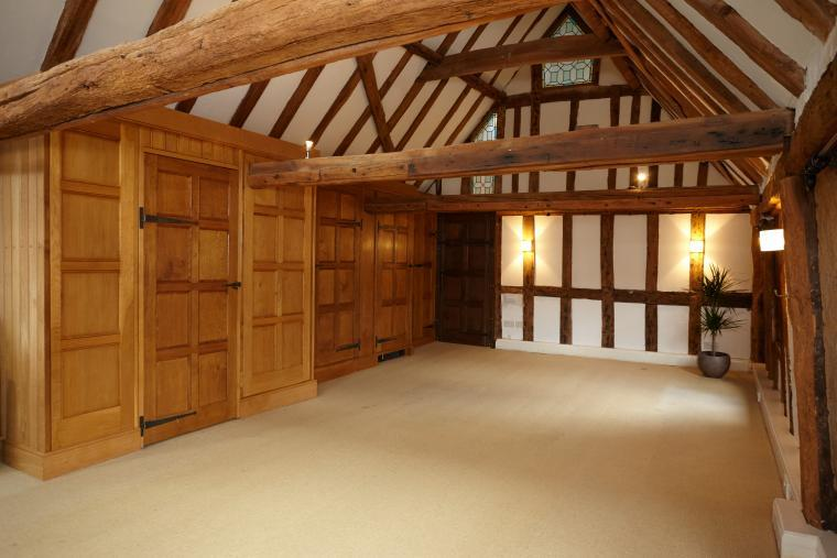 Beautiful Large Tudor Room which can be used for yoga or other activities - 20 folding chairs available for groups