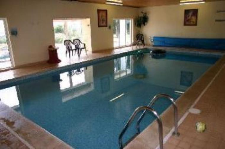 Access to the indoor heated pool