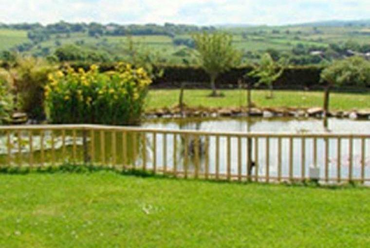 Fenced pond