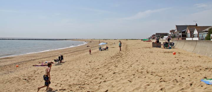Jaywick beach near Clacton Essex
