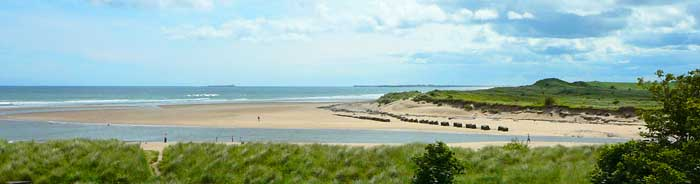 Golden sandy beach at Alnmouth Northumbria